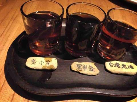 黒猫夜 紹興酒 利き酒